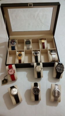 New box set with 12 vintage watches, mechanical and quartz- all working