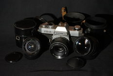Yashica FX-2 with 3 lenses