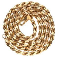 Yellow gold cord necklace,14 kt, length: 46 cm