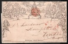 Great Britain Queen Victoria 1840 - Mulready penny lettersheet.