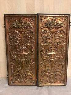 Two yellow brass doors-France-ca. 1880