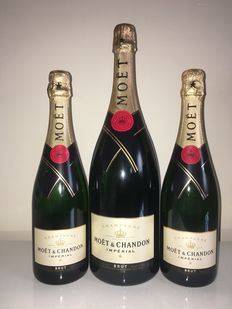 Moët et Chandon Imperial Brut - 1 magnums (1,5ltr) & 2 bottles (0,75)