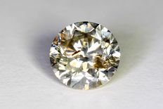 Diamond – 1.21 ct Fancy Greyish Yellow – SI2 – No reserve