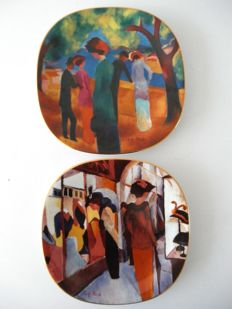 August Mackefor Rosenthal - set of numbered and limited edition porcelain wall plates.
