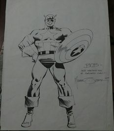 Zeck, Mike - Original drawing - Captain America
