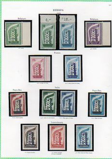 Europa 1956 to 1962 - Stamp collection.
