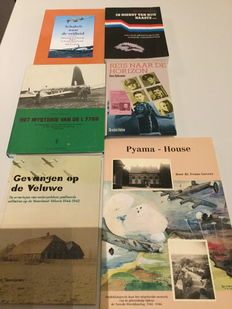 WW II; Lot with six books about the help given to pilots in The Netherlands during WW II - 1979/1999