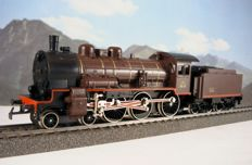 Primex H0 - From set 2701 (3010.5) - Steam locomotive with tender series 230 F of the SNCF