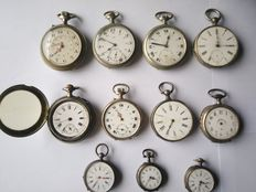 Lot of 11 pocket watches from different brands