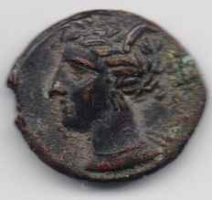 Ancient Greece - Carthage or Western Sicily - Bronze - End of 4th century - With horse and palm tree