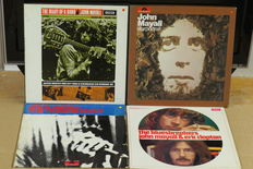 John Mayall 2 boxes and 2 albums – The diary of a band – Starportrait – The Bluesbreakers with Clapton – The turning point - total of  6 LP's