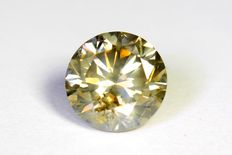 Diamond – 1.32 ct – Fancy Greenish Yellow – No reserve
