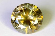 Diamond – 2.52 ct – Fancy Greenish Yellow – SI1 – No reserve price