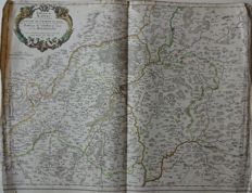 France, Bourgogne, Autun, Macon, Chalon; Nicolas Sanson / Pierre Mariette - 4 copper engravings - 1658 / 1690