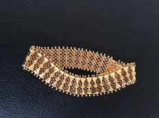 Handmade 18K gold bracelet around 1960's
