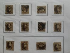 Belgium - stamp collection on home-made sheets