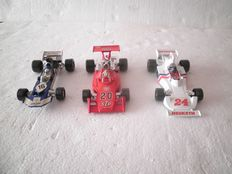 Corgi Toys - Scale 1/36 -Team Surtees Formula 1 No.150, Patrick Eagle Formula 1 No.159 and Hesketh 308 Formula 1 No.160