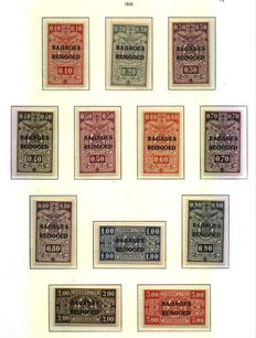 Belgium 1928/35 - Stamps for newspapers and luggage  - COB J01/36 and BE1/23