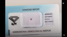 Natural fancy diamond, 0.15 ct.