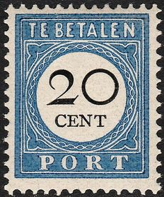 The Netherlands 1894 - postage due number and value black - NVPH25