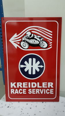 Emaille bord - Kreidler racing service