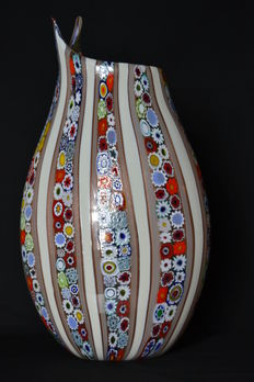 Mario Costantini - vase with Murrine and aventurine