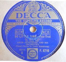 Jazz, BLUES, DIXIE and SWING on 78 rpm records such as Louis Armstrong, Chet Atkins, Benny Goodman, Count Basie, Fats Waller etc.