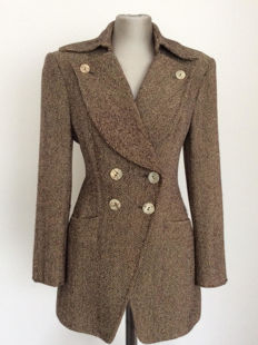 Lolita Lempicka – Stunning tailored coat in warm shades of brown, hard to get!
