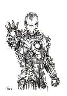 Ratera, Mike - Original ink drawing - Iron Man