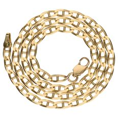 Yellow gold link necklace, 14 kt – 39.9 cm.
