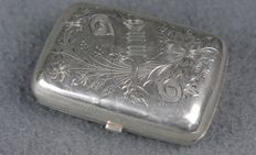 Pill box, solid silver 84, St Petersburg 1882-1899