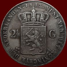 The Netherlands – 2½ guilder coin 1842 Willem II – silver