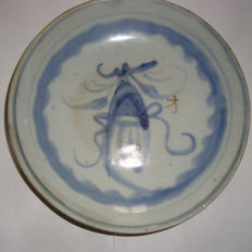 Chinese blue and white porcelain plate - 150 mm