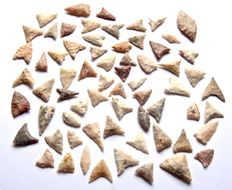 Lot with 66 Neolithic arrowheads from Niger - 42-16 mm (20)