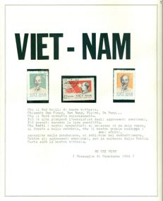 Indochina and Vietnam 1880/1970 - Collection of stamps on album pages