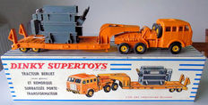 Dinky Supertoys-France - Scale 1/48 - Tractor Berliet (with windows) and trailer with lower transformer loader No.898