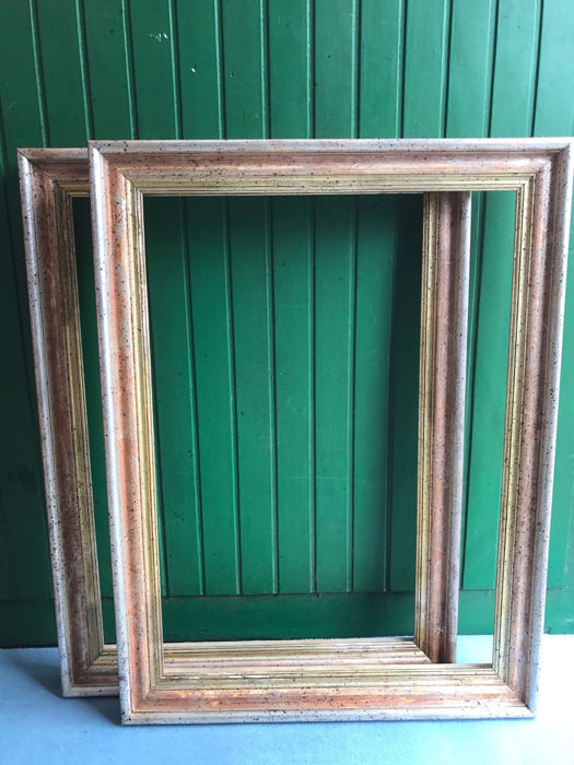 Two Large Italian Frames Wood Hand Gilded Catawiki