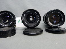 Lot of 3 Canon lenses