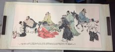 Scroll painting (Eight Immortals) China - late 20th century