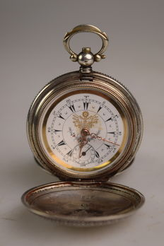 Antique silver pocket watch – J. Dent London – around 1850