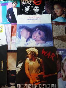 """Lot of 50 7"""" singles from the 60's, 70's and 80's in VG+/EX condition"""
