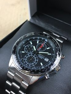 Seiko Flightmaster Pilot chronograph, reference: SND253P1 – men's watch.