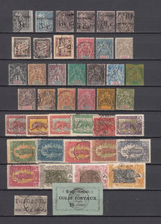 Congo 1891/1904 – Batch of stamps – Yvert No. 1, 2, 4, 4A, 5, 5C, 8, 10, 11, 12/24, 27/41, 42, 44, 45,  1, 2