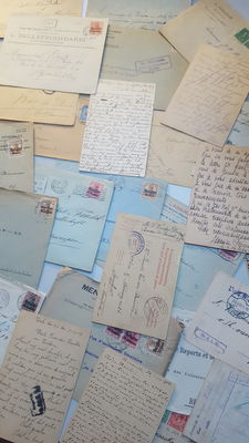 Lot of postcards and envelopes from the first world war 14-18 (NLD-BEL-FR)