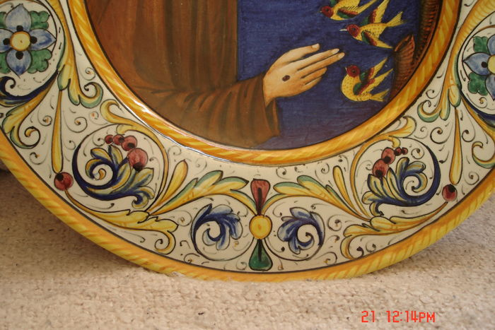 S Volpi Deruta Ceramiche - Large Wall Charger - Catawiki