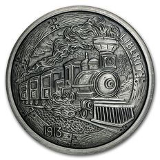 USA - 5 oz - 999 Feinsilber / Silber - The Train - Hobo Nickel Series 1913 - Silber Antique Finish