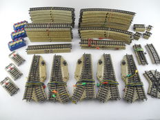 Märklin H0 - 5119/5120/5211/5200/5106/e.a. - 66-part lot of M-track incl. 5x electrical switches  [539]