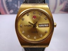 Rado Voyager model 636.3243.2.8 Gold plated oval Gents' automatic Swiss wristwatch – c. 1970s