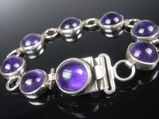 Modernist silver bracelet, Space Age, Germany 1960s