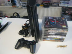Nice original Ps3 500GB incl 10 original games. Black ops 1+2,Batlefield 3,etc